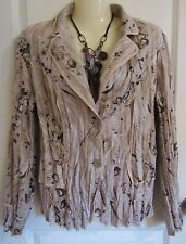 Alberto Makali Button Front Jacket. Size XL. Gold & Silver Shimmer. Beautiful!