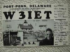 PORT PENN DE-DEL-REEDY ISLAND LIGHTHOUSE-QSL-REHOBOTH BEACH-DELAWARE-1947