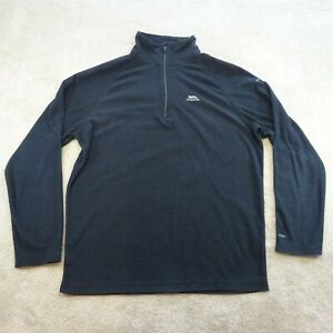 Trespass Sweater Adult Large Black Grey Jumper Camping Outdoors Hiking Mens