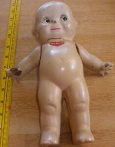 """Kewpie doll 12"""" By Rose Oneill VINTAGE composition blue wings"""