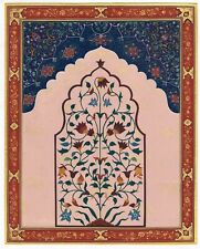 Indian Miniature Painting Hand-Painted Islamic Design Artwork On Paper Wall Art