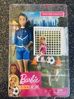 Barbie You Can Be Anything Soccer Coach Brunette or Blonde Barbie Doll