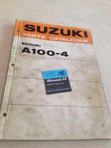 Suzuki A100-4A 100 Piezas List Catálogo Lista Pieza Suelta Ed.71
