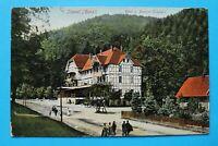 Sachsen-Anhalt AK Ilsetal Harz 1910-25 Hotel Pension Ilsestein Straße Fachwerk +