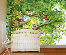 Bird's Tree-Wall Mural-10.5'(3.20m) wide by 8'(2.44m)8' high