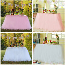 Party Festival  Tutu Tulle Table Cloth Cover Skirting for Wedding Table Decor