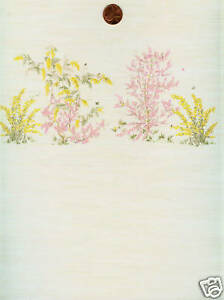 Dollhouse Wallpaper / 2 Sheets Mini Springtime Beige