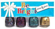 China Glaze BE BRIGHT 4pc Nail Polish Set~Present Merry Bells Mingle 81573-81576