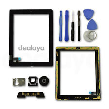 FOR IPAD 2 BLACK REPLACEMENT LCD SCREEN TOUCH DIGITIZER FRONT GLASS Home Button