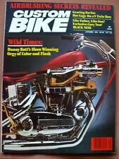 CUSTOM BIKE MAGAZINE OCTOBER 1981 VG-EX