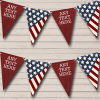 Party Banner Bunting USA American Flag Stars Stripes 4th July Birthday