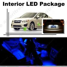 For Subaru Impreza WRX 2004-2018 Blue LED Interior Kit + White License Light LED