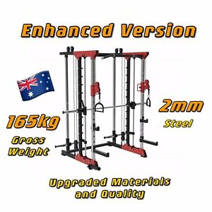 Home Gym Multifunctional Smith Machine Power Rack Squat Equipment CablePully
