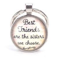 Best Friend Keychain Friendship Jewelry Metal Best Friends Pendant Keys Ring  Ea
