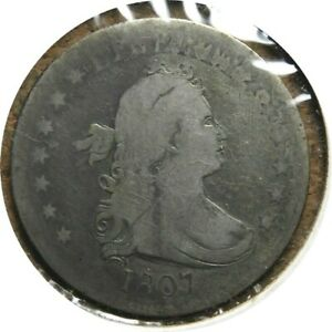 elf Draped Bust, Heraldic Eagle Quarter Dollar 1807