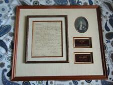 New ListingEli Whitney 1809 signed letter included in framed material, authentic, historic