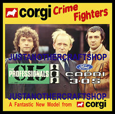Corgi Toys 342 The Professionals Ford Capri Large Poster Advert Sign Leaflet