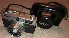 Canon Camera Canonet QL17 Rangefinder 35mm Vintage SE 45mm 1:1.7 Leather Case