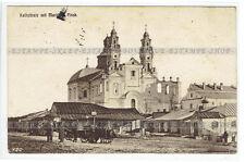 Pinsk Belarus postcard Kathedrale mit Markt (206)