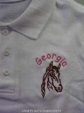 PERSONALISED Horse Polo T Shirt Top 3,4,5,6,7,8,9,10,11,12,13,14,15 GIRLS/BOYS
