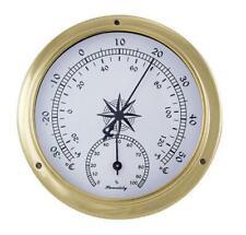 Comfortmeter, Hygro-Thermomètre Marine installation instrument, laiton Boîtier Ø 12 cm