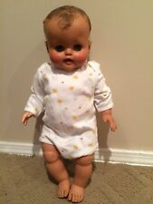 "20"" Vintage Madame Alexander Baby Doll 50s 60s Blue Eyes Cries Rubber Pose-able"