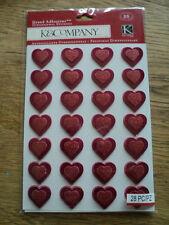 K&CO WOODLAND VALENTINE HEART GRAND ADHESIONS BNIP *LOOK*