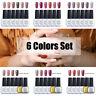 Ukiyo 6 Colors Set 8ml Soak Off Nude Color Nail Gel Polish UV Lamp Top Base Coat