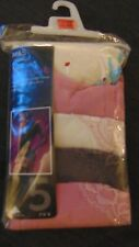 M&S Set of 5 Cotton Rich Lace Trim Brazilian Style Briefs 20 Rose Mix BNWT