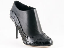 New Christian  Dior Serpent Black leather  Booties Size 36 US 6
