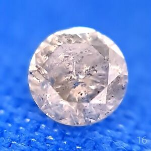 .16ct. CHAMPAGNE diamond. Natural CHARACTER diamond.