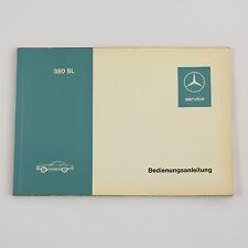 Mercedes R107 350SL Betriebsanleitung Bedienungsanleitung Ausgabe 1971