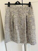 JIGSAW Size M UK 12 Skirt Kew Floral Mint Women's A Line Cottagecore Ladies