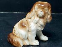 Vintage Brown Pekingese Dog Porcelain Animal Figurine Japan 3 Inch
