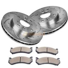 FRONT PERFORMANCE DRILLED AND SLOTTED BRAKE ROTORS Fit Honda Civic Coupe Sedan