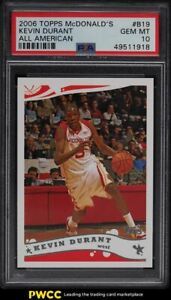 2006 Topps McDonald's All-American Kevin Durant ROOKIE RC #B19 PSA 10 GEM MINT