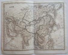 1838 ORIGINAL MAP OF ASIA, CHINA, KOREA, INDIA, TIBET, JAPAN, MIDDLE EAST