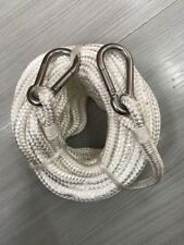 9MM X 15M BRAIDED NYLON MARINE ROPE BOAT /TOW RECOVERY WITH TWO 8MM SNAP HOOK