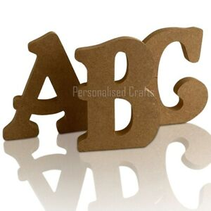 Free Standing Wooden MDF BELSHAW FONT Letters 18mm Thick! 5 Sizes From £1.30each