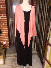 Bolero Jäckchen L XL 2XL 3XL 46 48 50 52 54 56 58 Lachs Rosa Shirt Jacke Jersey