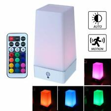 WRalwaysLX Retro LED Motion Sensor Table Lamp Color Changing with Remote Control