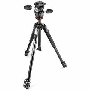 Manfrotto 190X Alumin. 3 section Camera Tripod 804 MK II 3way quick release head