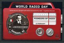 Grenada 2013 Gomma integra, non linguellato dell'umanità UNESCO giorno RADIO GUGLIELMO MARCONI PIONIERI 1 V S/S FRANCOBOLLI