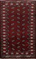 3x4 Tribal Balouch Geometric Hand-knotted Area Rug Wool Oriental Kitchen Carpet