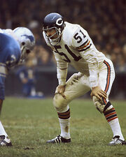 DICK BUTKUS 1971 CHICAGO BEARS HOF 8X10 PHOTO #2