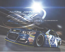 2017 JIMMIE JOHNSON LOWES RACING 7X CHAMP 2 OF 2 MONSTER ENERGY NASCAR POSTCARD