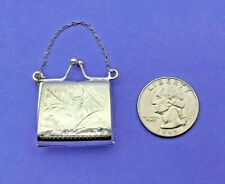 Case Container Locks Snaps Shut 925 Sterling Silver Purse Pocketbook Pill Box