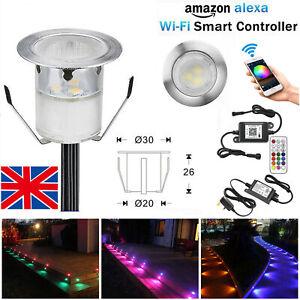 10-50 X Smart Wifi Control 12V RGB LED Decking Lights Garden Stair Lighting Lamp