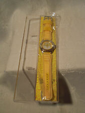 Bacardi Breezer Werbe Armband Uhr in gelb neu in OVP aus Sammlung selten 2004