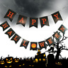 Halloween Banner Garland Decoration Pumpkin Paper Bunting Flags party DIY  Decor